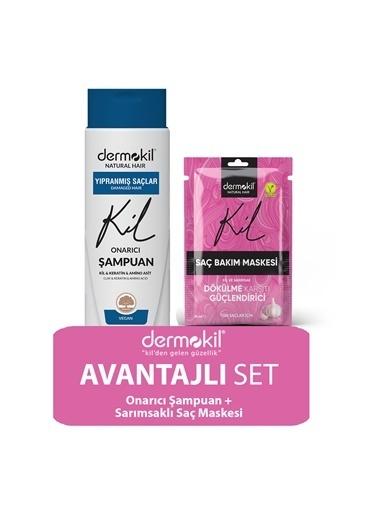 Dermokil Dermokil Amino Asit Şampuan ve Sarımsak Saç Maskesi 2'li SET Renksiz
